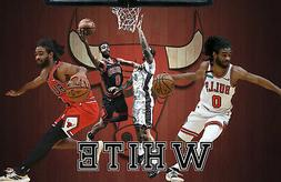 Chicago Bulls Lithograph print of  Coby White 2020 17 x 11