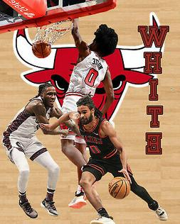 Chicago Bulls Lithograph print of  Coby White 2020 8 x 10
