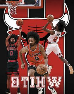 Chicago Bulls Lithograph print of  Coby White 2020 11 x 14