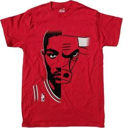 Chicago Bulls Men's Majestic Derrick Rose Bulls Split Red T-