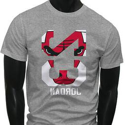 Chicago bulls Michael Air Legend 23 Jordan Mens Gray T-Shirt