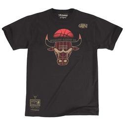 "Chicago Bulls Mitchell & Ness Men's ""6 Rings"" Black Pinstrip"