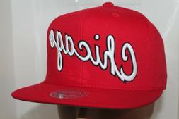 Chicago Bulls Mitchell & Ness NBA Wool Solid  Snapback,Hat,C
