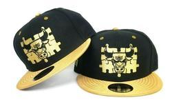 New Era Chicago Bulls NBA 9Fifty Snapback Hat Black - Gold
