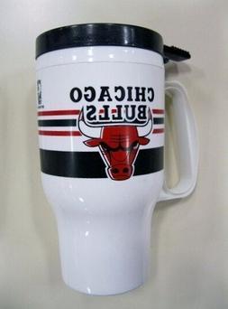 Chicago Bulls NBA Basketball 16oz Plastic Travel Mug with se