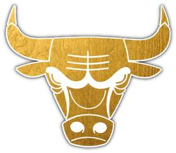 "Chicago Bulls   NBA Basketball Car Bumper Sticker Decal ""SIZ"