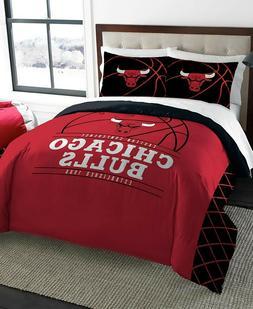 Chicago Bulls NBA Basketball Full Queen Comforter Pillow Sha