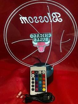 Chicago Bulls NBA Basketball Night Up Light Lamp LED Persona