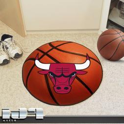 "Chicago Bulls NBA Basketball Shaped 27"" Round Carpet Door Fl"