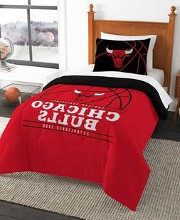 Chicago Bulls NBA Basketball Twin Comforter & Pillow Sham 2-