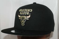 Chicago Bulls New Era NBA Black Gold 9Fifty,Snapback,Hat,Cap