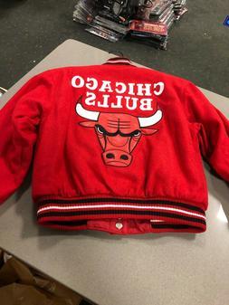 Chicago Bulls NBA Jacket  J H DESIGN  YOUTH/BOYS  WOOL JACKE
