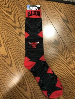 Chicago Bulls NBA Men's Argyle Crew Socks, Size Large   - NW