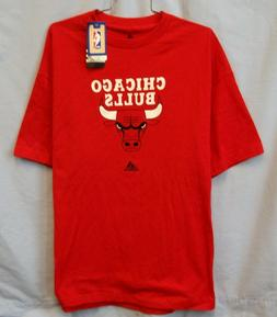 CHICAGO BULLS NBA MEN'S ADIDAS RED T-SHIRT XL CLOSEOUT FREE