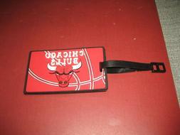 Chicago Bulls NBA Rubber Luggage Travel Bag Tag  BRAND NEW
