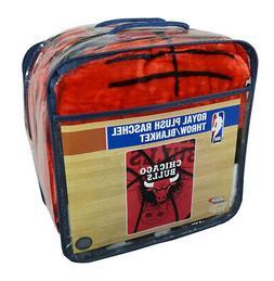 Chicago Bulls NBA Shadow Play Raschel Royal Plush 60x80 Twin