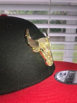 Chicago Bulls New Era  NBA Snap Snapback Hat Cap 950 Gold  P
