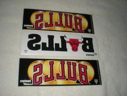 Chicago Bulls NBA Vintage Bumper Sticker Lot C  From Venture