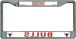 Chicago Bulls New Design Chrome Frame Metal License Plate Ta