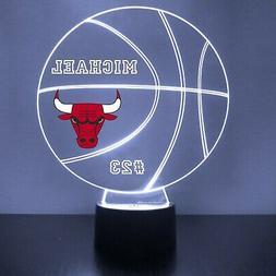 Chicago Bulls Night Light, Personalized FREE, NBA Basketball