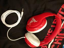 CHICAGO BULLS OVER THE EAR HEADPHONES PADDED CORDED