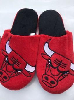 Chicago Bulls Plush Big Logo Slippers Nba Approved Large