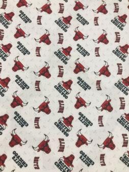 Chicago Bulls Polyester Fabric 1/2 Yard 18 X 60