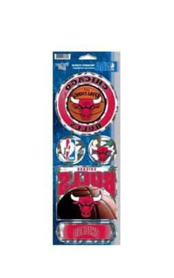 Chicago Bulls Prismatic Decal Sticker Set Sheet NBA WinCraft