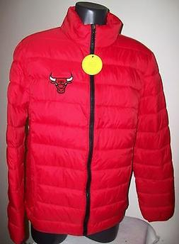 CHICAGO BULLS Puffer Pack It Jacket with Tote Bag S M LG XL
