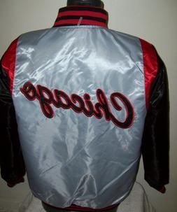 CHICAGO BULLS  REVERSIBLE NBA Satin Jacket M L XL 2X RED & B