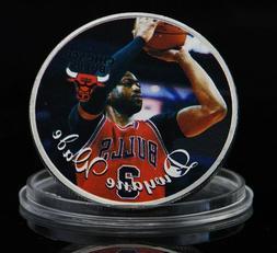 Chicago Bulls Silver Medal Coins Dwyane Wade Basketball Spor