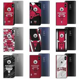 NBA CHICAGO BULLS SILVER MIRROR FLIP STAND CASE COVER FOR AP