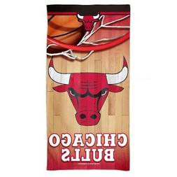 "CHICAGO BULLS SPECTRA BEACH TOWEL 30""X60"" COTTON PLUSH HIGH"