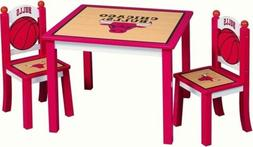 Chicago Bulls Kids Table & Chair 3pcs Set