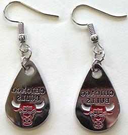 Chicago Bulls Teardrop Earrings