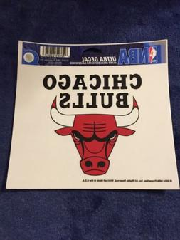 """Chicago Bulls Ultra decals 5"""" x 6"""" Cling Removable Reusable"""