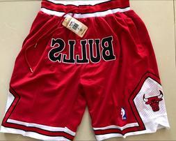 Chicago Bulls Vintage Basketball Game Shorts NBA Men's NWT S