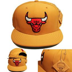 New Era Chicago Bulls Wheat Snapback Hat NBA Team Patched Ho