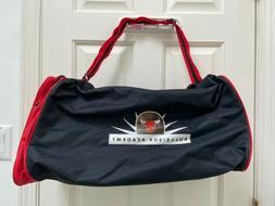 Chicago Bulls White Sox Academy Logo Black Red Duffel Bag