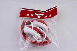 CHICAGO BULLS ZTE WIRED RED HEADPHONES – NEW