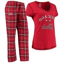 Chicago Bulls Concepts Sport Women's Duo V-Neck T-Shirt & Pa