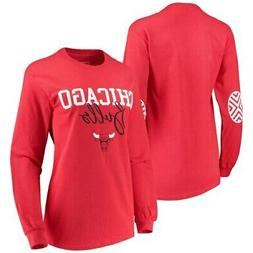 Chicago Bulls Women's Elbow Patch Long Sleeve T-Shirt - Red