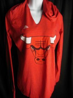 Chicago Bulls Women's Adidas Long Sleeve Hooded Shirt