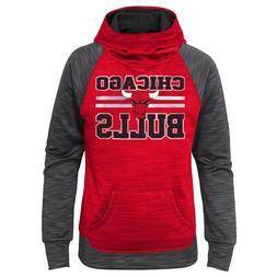 NBA Chicago Bulls Youth Girls X-Small 4/5 Spacedye Pullover