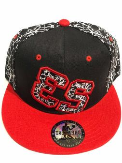 Chicago New Leader Michael Jordan 23 Bulls Black Red Cement