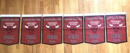Complete Set of Chicago Bulls NBA Champions 6 Banners/Flags