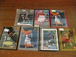 DENNIS RODMAN - NBA- HOF - 7 Card Lot PISTONS BULLS SPURS -