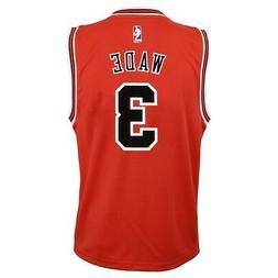 Dwyane Wade NBA Chicago Bulls Official Road Red Player Repli