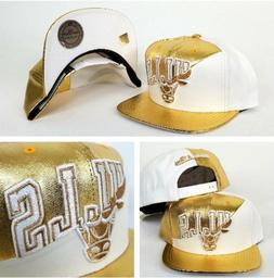Exclusive Split White / Gold Mitchell & Ness Chicago Bulls s