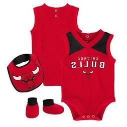 Infant Chicago Bulls Creeper Set Baby Snapsuit Set